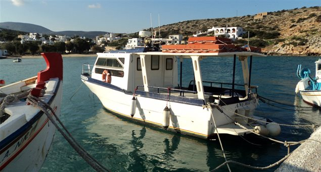 """Iraklia's """"Anemos"""" Sea Taxi and What to See"""