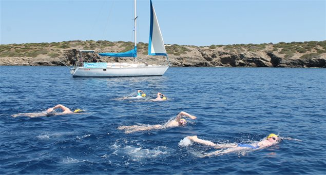 Adventure Sports: Swim Trekking the Islands of Naxos and the Small Cyclades