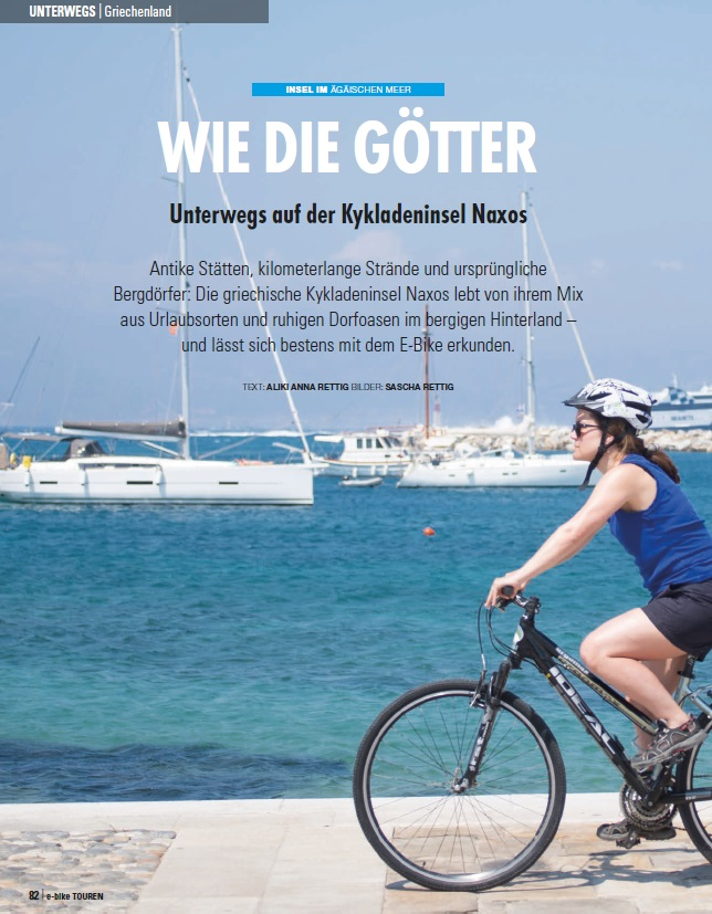 NAXOS PRAISED FOR CYCLING TOURISM IN ARTICLE BY TOP GERMAN MAGAZINE!